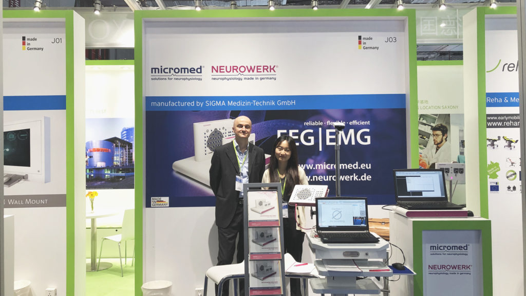 Micromed Group - CMEF Spring 2019. NEUROWERK and Micromed was presented by Mr. Cristiano Rizzo and Mrs. Shiyu Hou.