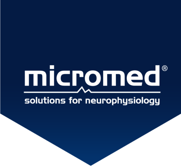 Micromed logo flag blue