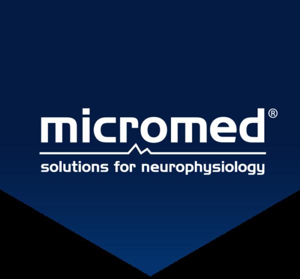 Micromed logo flag blue