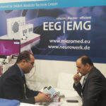 Micromed Group - ARAB HEALTH 2019. Mr. Mohamed Zahran is showing Micromed products to interest visitors.