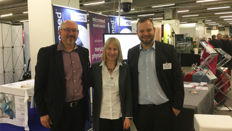 Micromed Group - 11th Annual Meeting of the German and Austrian Societies for Epileptology and the Swiss Epilepsy League. Our team on site: Riccardo Solda, Marianne Wittwer Solda, Dominic Mäkler.