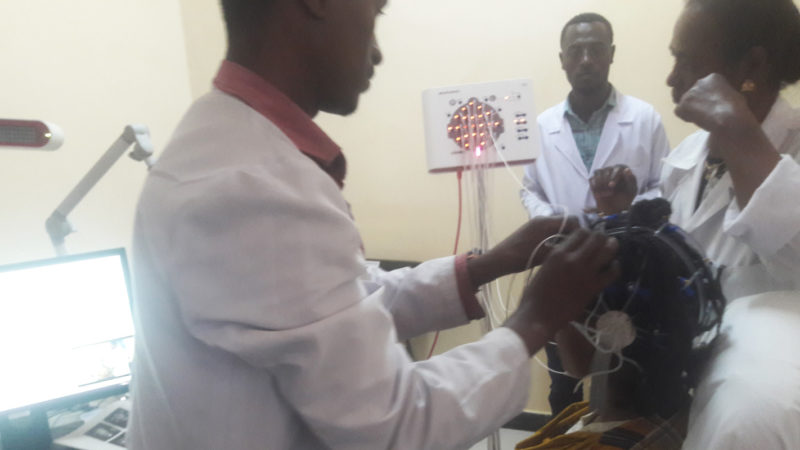 Micromed Group - Shashemene General Hospital. Hands-on after installation of the NEUROWERK EEG.