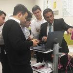 Micromed Group - Mansia Hospital. Mr. Salah explains the device to hospital staff.