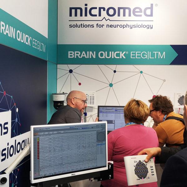 Micromed Group - DGN 2019. Viele Interessenten informierten sich ausführlich über NEUROWERK EEG und EMG und BRAIN QUICK.