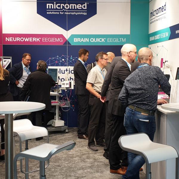 Micromed Group - DGN 2019. Live wurden die Vorteile des neuen Software-Upgrade Version 13 für NEUROWERK EEG und EMG vorgestellt.