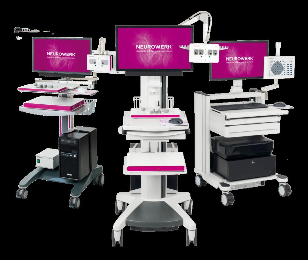 Micromed Gruppe - NEUROWERK EEG- und EMG-Systeme aus dem Hause SIGMA Medizin-Technik auf verschiedenen Wagentypen