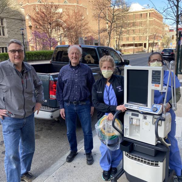 Moberg Ventilator to Penn 600x600 - Moberg ICU Solutions Lends a Ventilator
