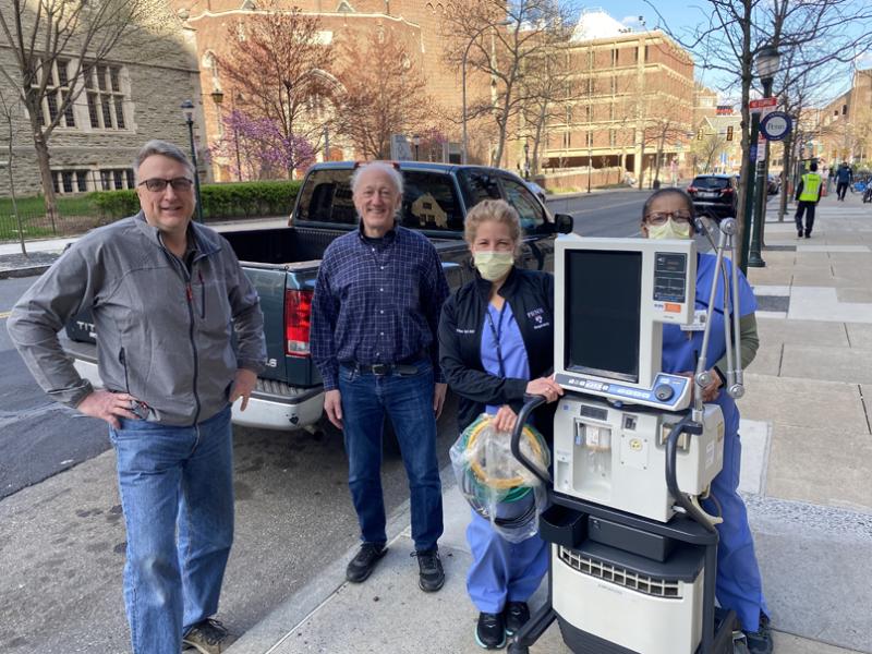 Moberg Ventilator to Penn 800x600 - Moberg ICU Solutions Lends a Ventilator
