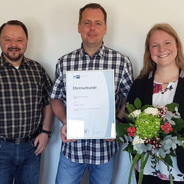 Micromed Group - Ehrenurkunde für das deutsche Team
